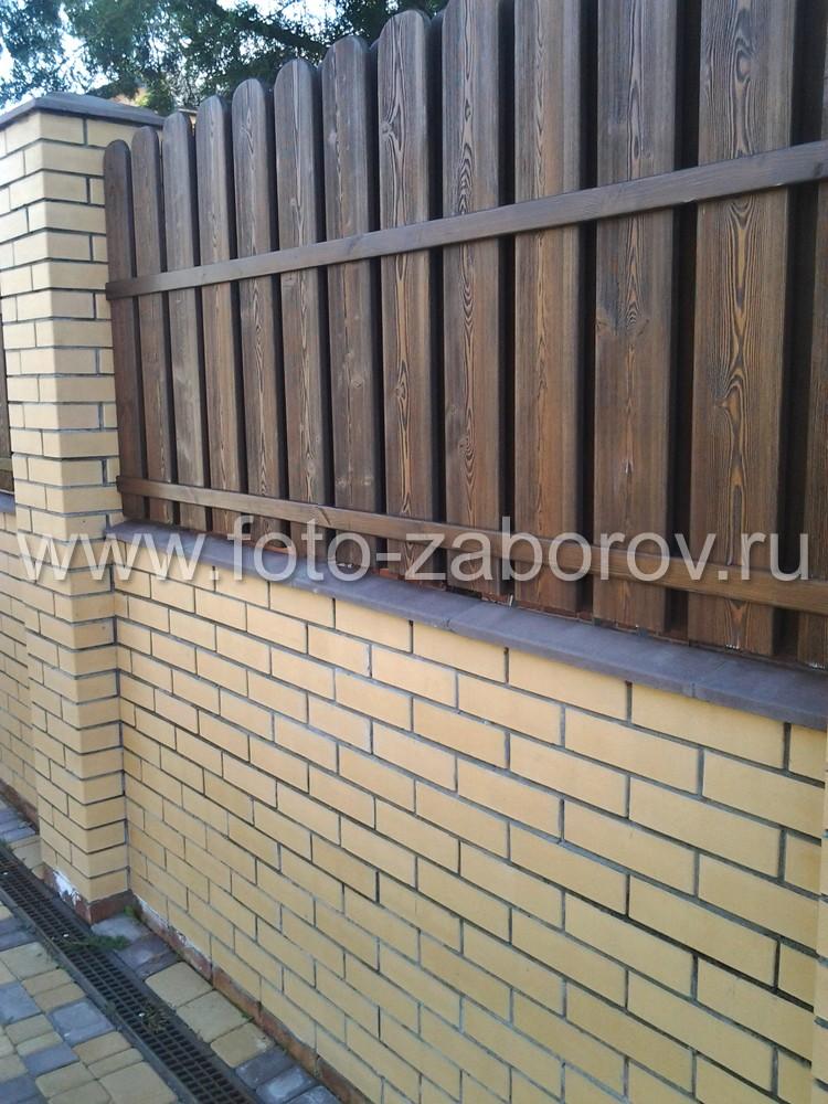 Фото Деревянные брашированные ограждения из лиственницы,  сорт