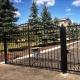 Забор+ворота+калитка из профильной трубы с декоративными элементами.