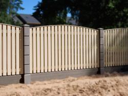 Современные модульные ограждения со столбами из прессованного бетона