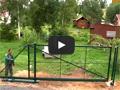 Установка заборa и ворот из сварной сетки