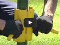 Монтаж ограждения на забивные опоры