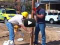 Монтаж заборов с помощью заменителя бетона - HILST Professional